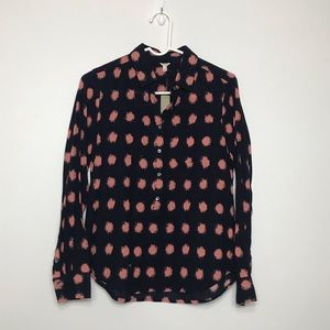 NWT J crew collared half button up